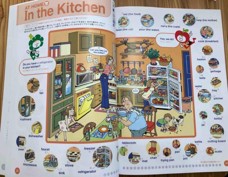 キッチンのページ:道具や家具の紹介