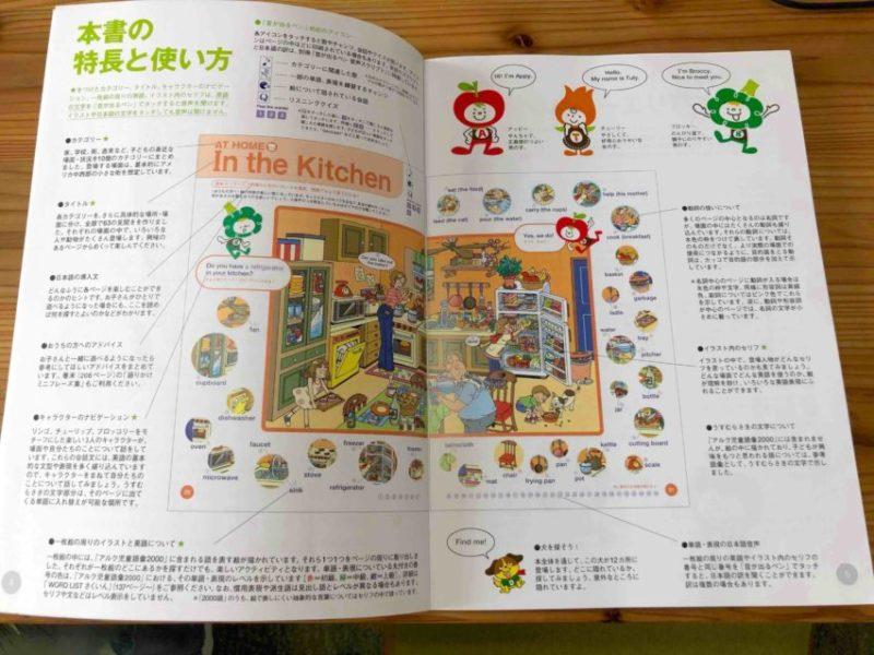 初めて英語学習をする子供におすすめの英語辞書は?【アルクの2000語えいご絵じてん】の冒頭の使い方のページ