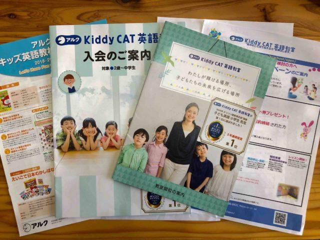 私が参加したアルクKiddyCAT英語教室開業の資料一式の写真