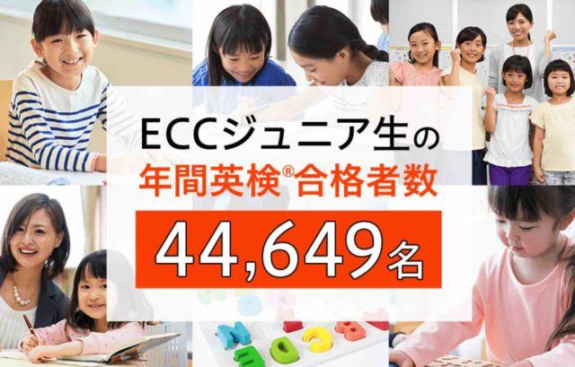 英語教室開業ECCジュニア年間英検合格者数